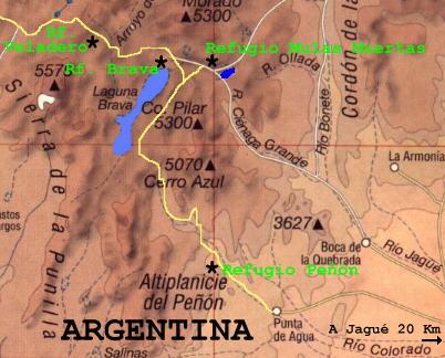 4 X 4 >> Laguna Brava, Mapa